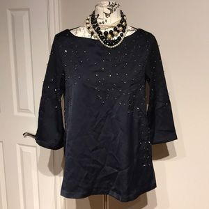 Top Tunic Camisole Shirt Blouse Beads Embellished